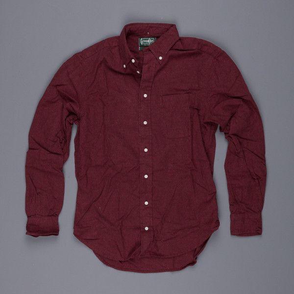 Gitman Vintage cotton flannel Burgundy – Frans Boone Store
