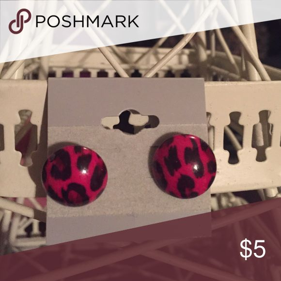 Animal print earrings Hot pink animal print earrings Jewelry Earrings