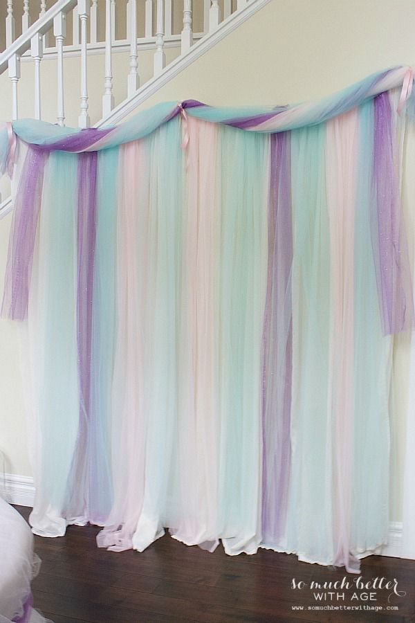 Let Them Eat Cake princess party backdrop by somuchbetterwithage.com