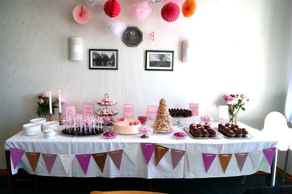 Barnedåb og kagebord   sukkerhjerte