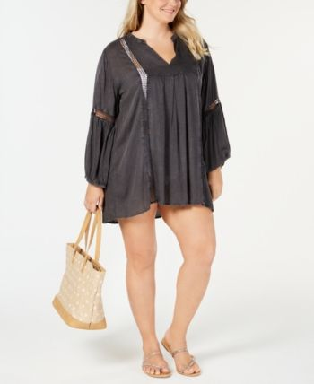 Plus Size Lace-Trim Cover-Up 9