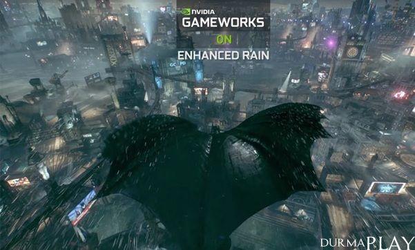 http://six.tc/nvidia-gameworks-zel-teknolojileri-batman-arkham-knighta-olaganst-efektler-katiyor/4771  Urban Chaos Riot Response ile tanistigimiz, Batman Arkham serisi ile yakindan tanima ve takip etme sansi yakaladigimiz Ingiltereli oyun stüdyosu Rocksteady Studios tarafindan Unreal Engine 3 oyun motoru üzerinde gelistirilen ve önümüzdeki günlerde de çikis yapmaya hazirlanan Batmam Arkham Knight için paylasilan Nvidia GameWorks özel teknolojileri tanitim videosu ola