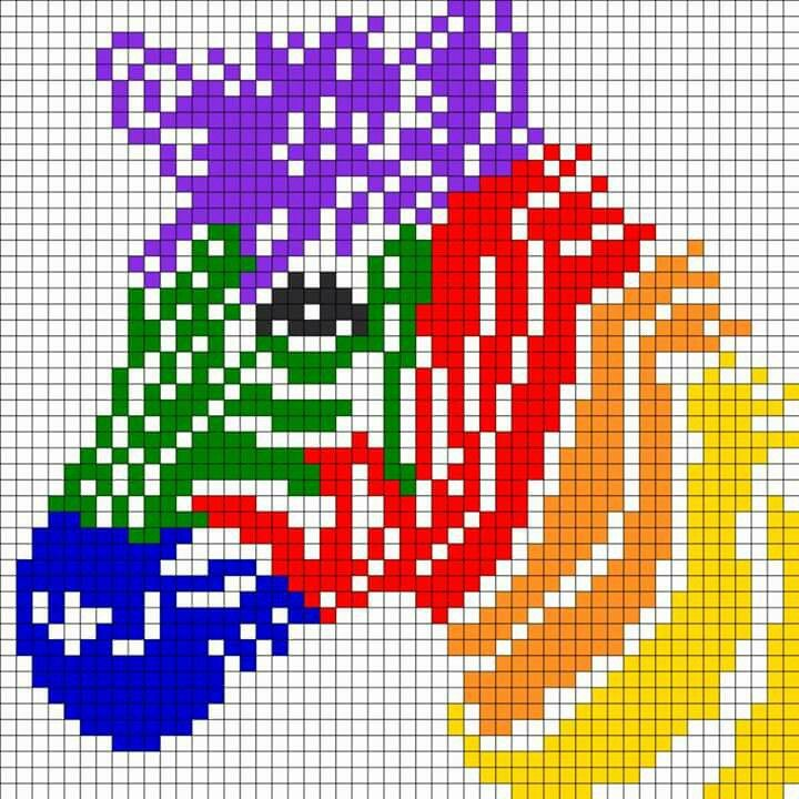 Colorful Zebra - no color chart