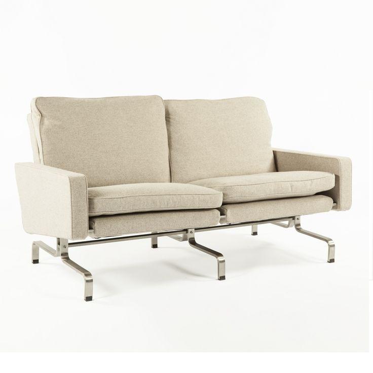 Poul Kjaerholm PK31 Two Seater Mid Century Modern Sofa Replica http   www. 42 best Mid Century Dining images on Pinterest