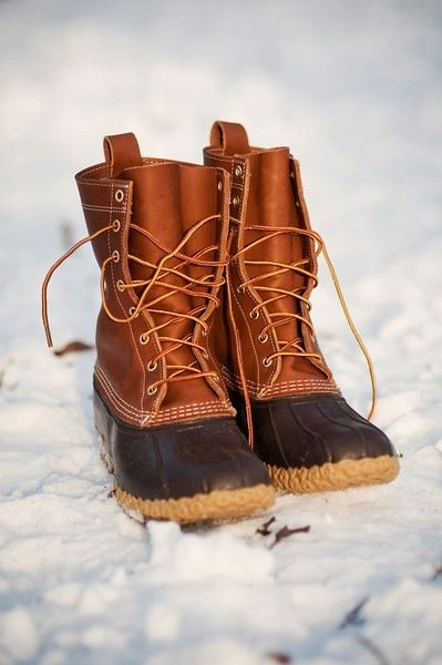 Probably pinned these a million times but I LOVE them. Bean Boots