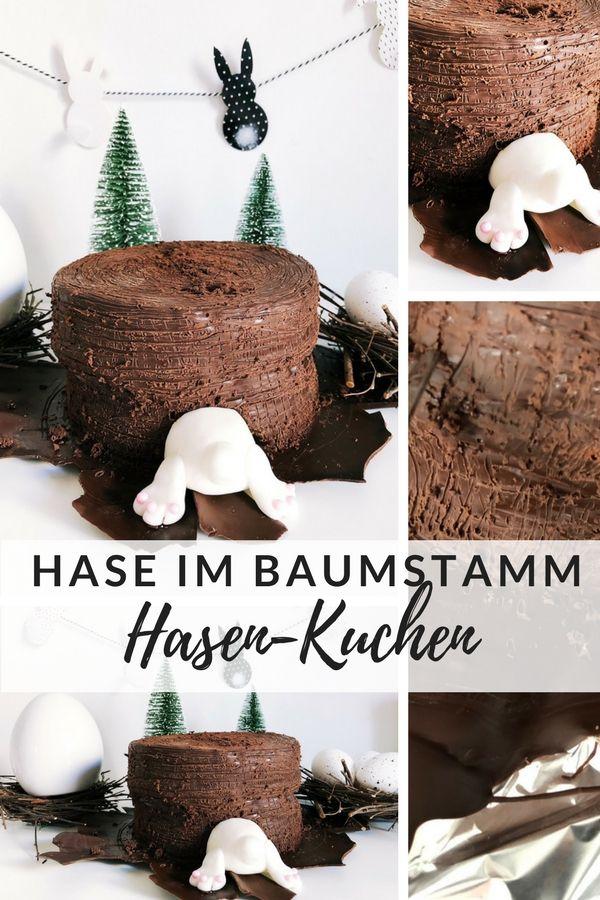 Hasenkuchen Hase Im Baumstamm Rezept Kuchen Torte Ohne Backen Lebensmittel Essen