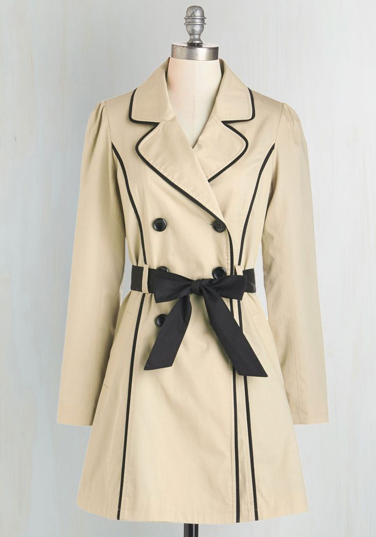 East Coast Tour Coat in Sand. Feel like the Maine attraction as you coast down the coast in this ModCloth-exclusive trench coat. #brown #modcloth