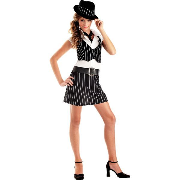 teen girls mobsta girl costume party city my school halloween dance outfit - Halloween Costumes Kennesaw Ga