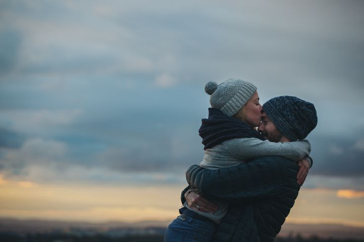 Chilly engagement session, country Victoria