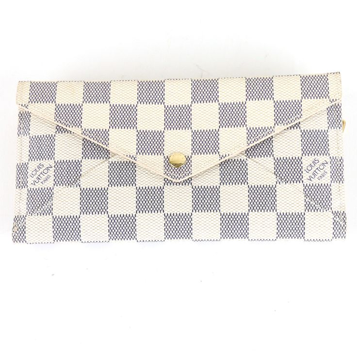 "LOUIS VUITTON N63098 DAMIER AZUR PORTEFEUILLE WALLET[Price]JPY 55,800 *Approximately US $501.47[Condition]""EXCELLENT pre-owned condition"""