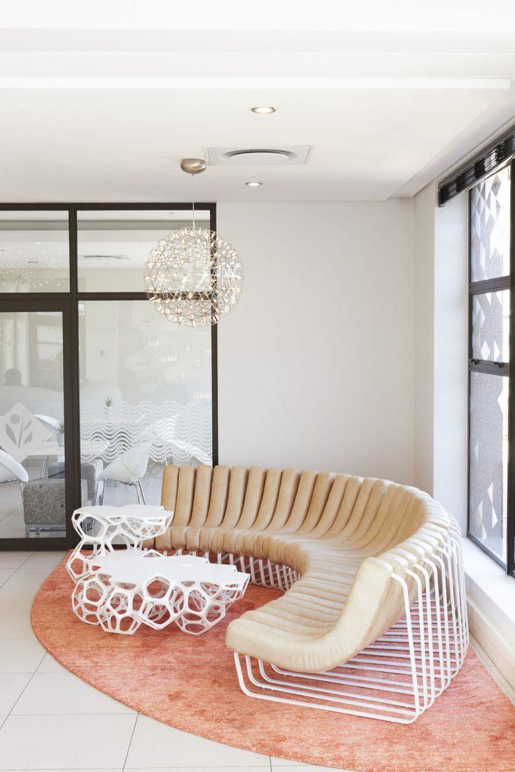 Environ Reception Songololo Sofa, Interior Design by Haldane Martin, photo Micky Hoyle
