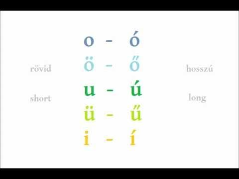 Lesson 1 - Hungarian vowels