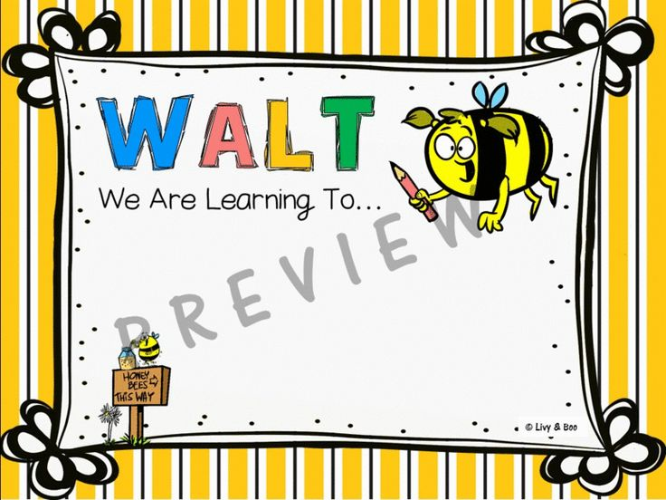 WALT, WILF & TIB Posters.  Includes 3 check in cards for students self evaluation.