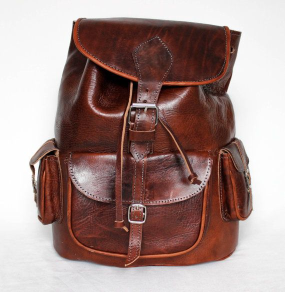 Hey, I found this really awesome Etsy listing at https://www.etsy.com/listing/212390651/leather-backpack-retro-style-3-front