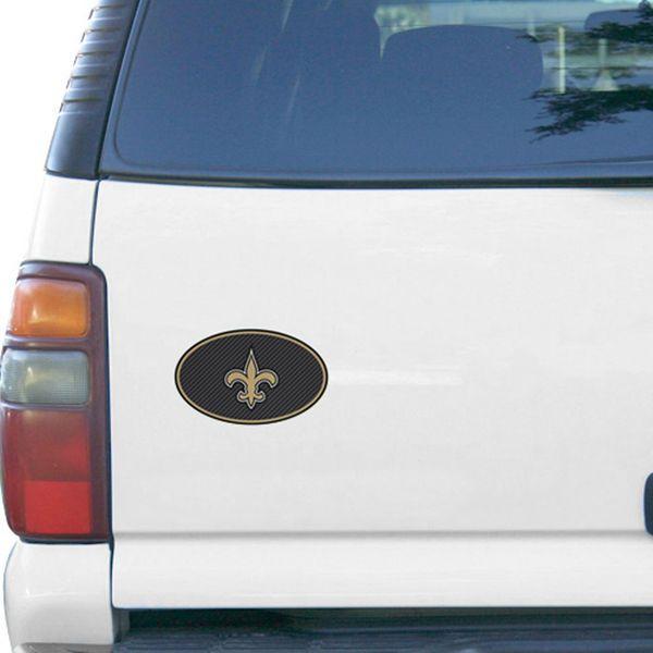 "New Orleans Saints Carbon 6"" x 6"" Oval Full Color Magnet - $5.99"