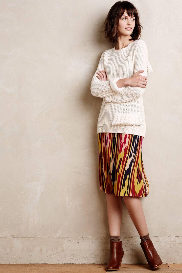 Ikat Silk Skirt - anthropologie.com