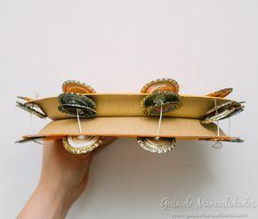 Pandereta+DIY+con+materiales+reciclados+-+Guía+de+MANUALIDADES
