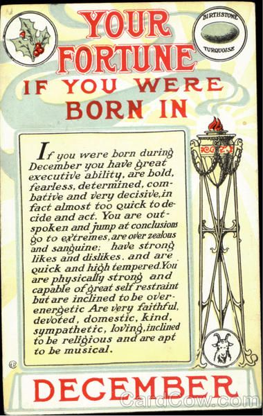 Your Fortune If You Were Born In December Birthday