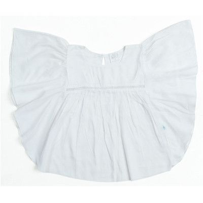 Alex and Ant girls white Swing Top