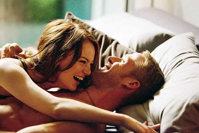 "Ryan getting crazy with Emma Stone in ""Crazy, Stupid, Love."""