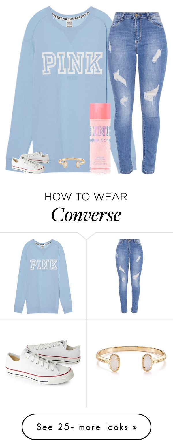 """Untitled #2396"" by laurenatria11 on Polyvore featuring Victoria's Secret, Kendra Scott and Converse"