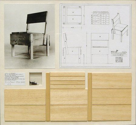 "Enzo Mari:  ""Proposta per un'autoprogettazione"", autoprogettazione (or ""self design"") was Mari´s collection of designs for furniture you could make yourself with just a hammer using inexpensive, off-the-shelf lumber, 1973"