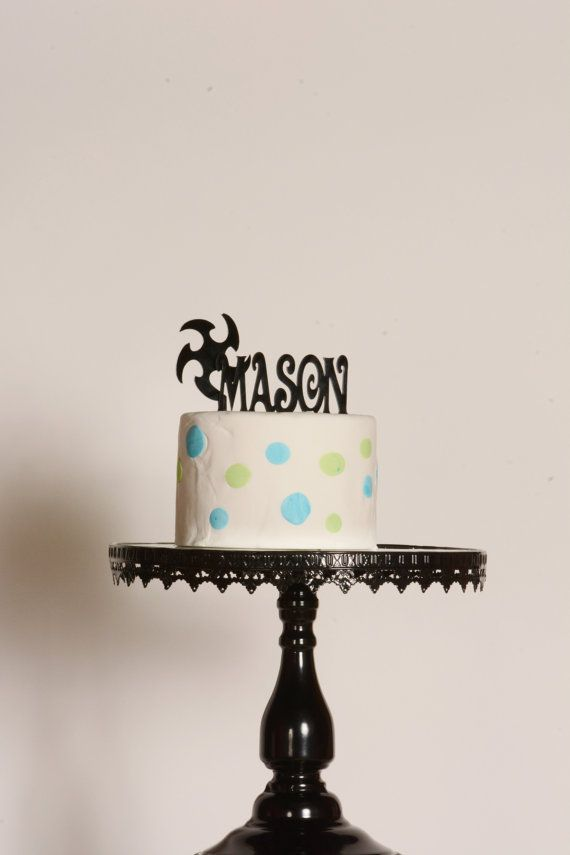 Ninja cake topper ninja star cake topper ninja birthday ...