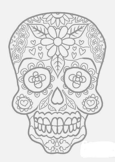 Mejores 49 imágenes de Skull coloring 7 en Pinterest | Coloración ...