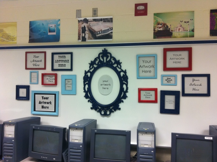 Modern Classroom Display : My classroom display i velcroed painted frames to the