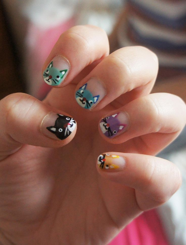 cat nail art ideas