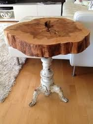 Image result for tree stump side table with legs