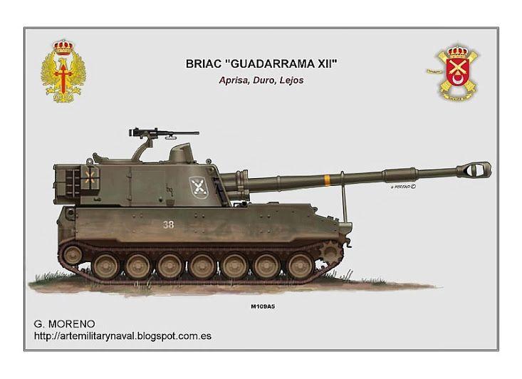 #ilustracion de un #vehiculo #militar ATP M-109