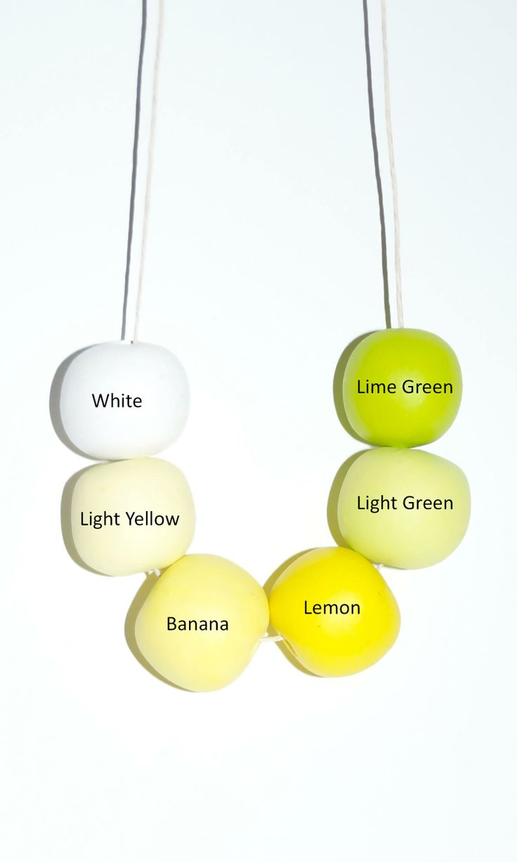 Lemon/Lime Beads for Necklace