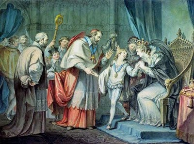 Richard, Duke of York, Taking leave of his Mother, Elizabeth Woodville, in the Sanctuary, Westminster by Giovanni Battista Ciaprini (1727–1785)