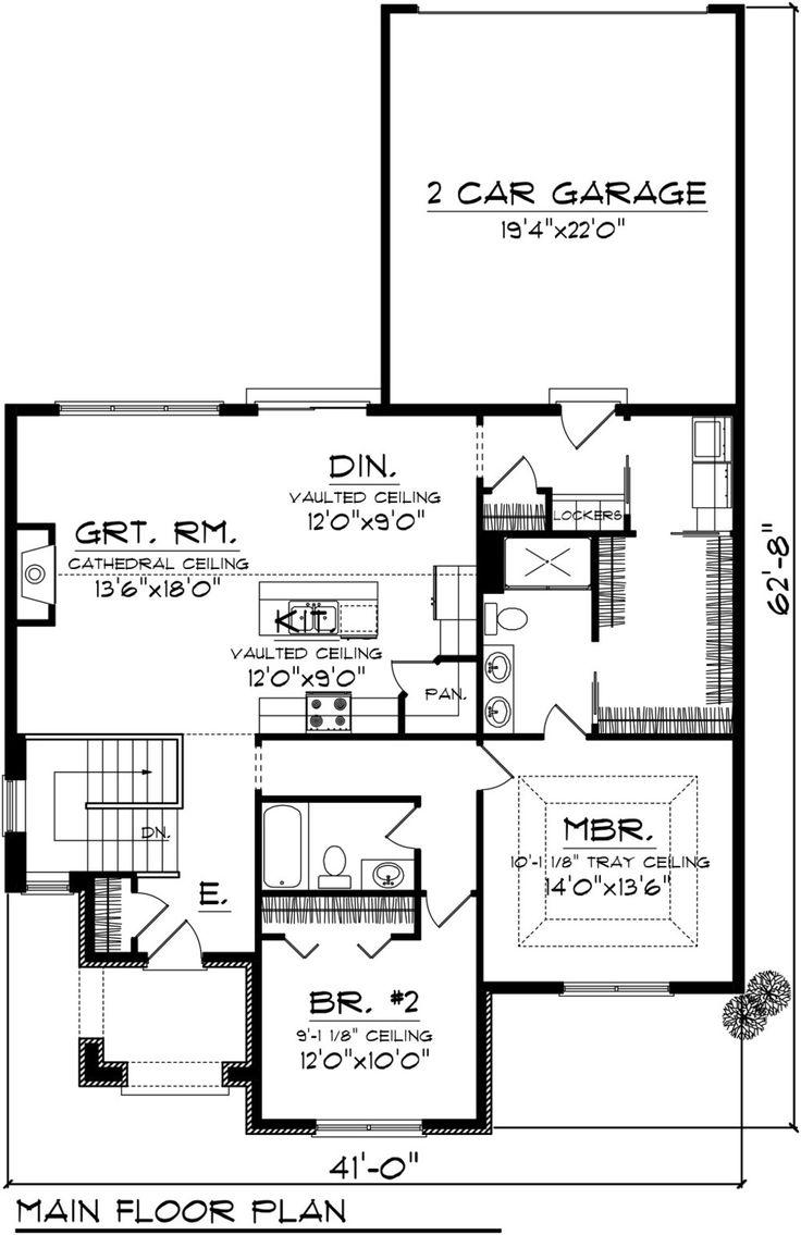 House plan 2 beds 1 5 baths 1398 sqft plan 70 1074
