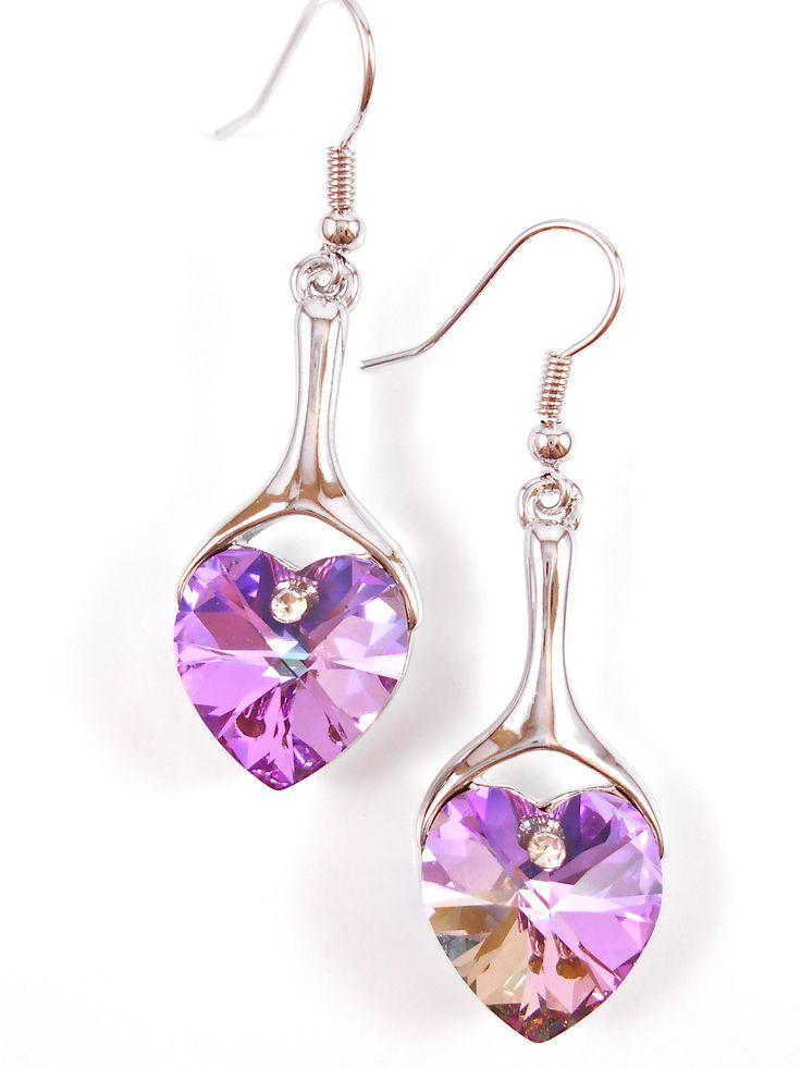 Beautiful crystal hearts.