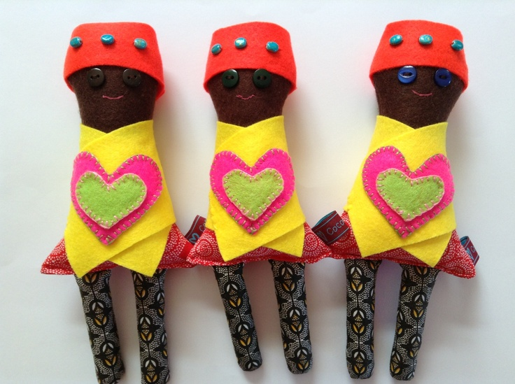 "KiDONDA KiDS are dolls without limbs, through which we seek to draw attention to the plight of child landmine victims and assist in their rehabilitation by donating a portion of profits from the sale of each doll to humanitarian anti-landmine efforts in Africa. Kidonda means ""wound""."