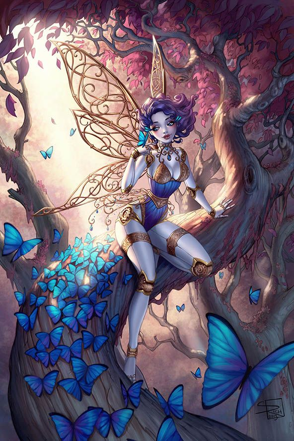 "Elves Faeries Gnomes:  #Faery ~ ""Mechanical #Fairy Colors,"" by Sabinerich, at deviantART.:"