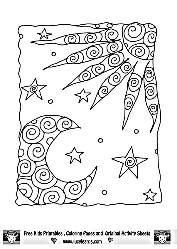 sun and moon coloring pages my image sense