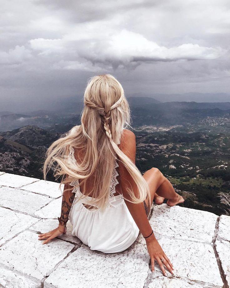Красивые картинки для девушек блондинок со спины