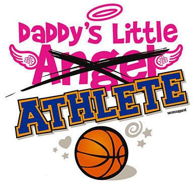My dad says im as graceful as a rhino so i highly doubt im an angel:) I am how ever his lil athlete