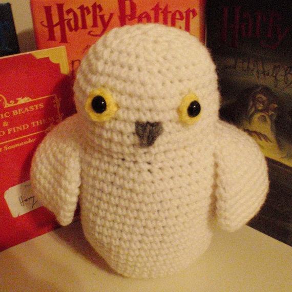 Crochet Hedwig Doll Harry Potter Inspired Amigurumi Owl