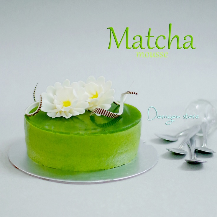 Matcha Mousse Cake With Matcha Mirror Glaze Doragon 39 S