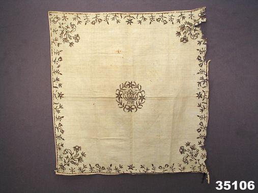 Handkläde från Island producerad 1783