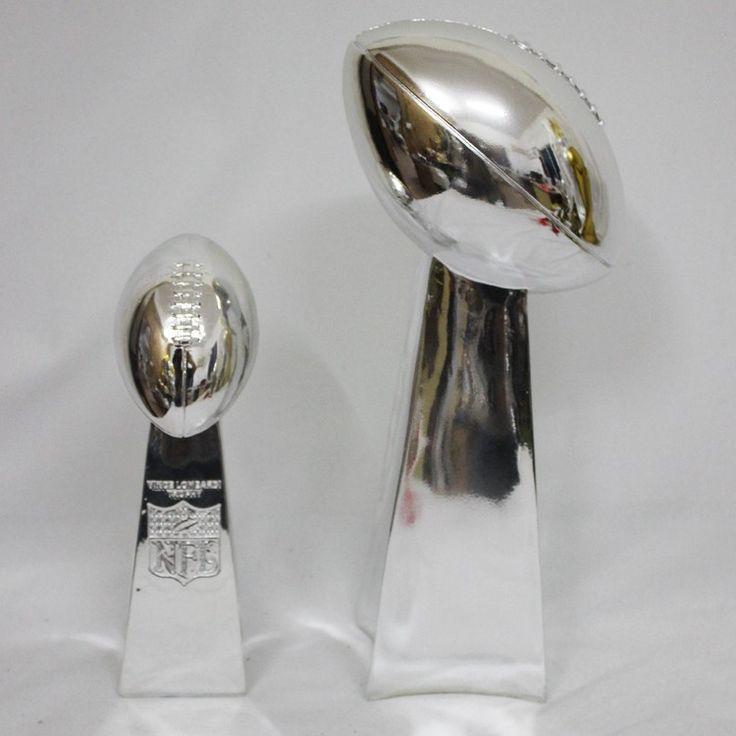 Amerikanischen fußball trophy 24 CM Vince Lombardi Trophäe replik 1:1 Super Bowl Trophäe Rugby Trophäe