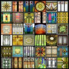 266 - frank lloyd wright and louis sullivan glass for elizabeth (400 pieces)