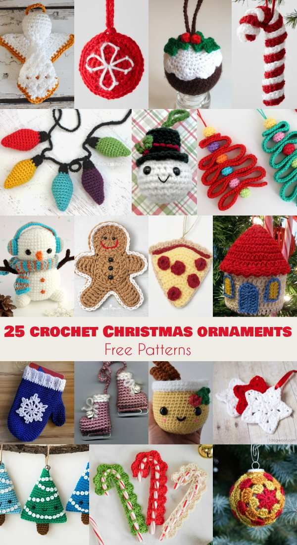 25+ Free Patterns of Crochet Christmas Ornaments ,  Dawn Roesner