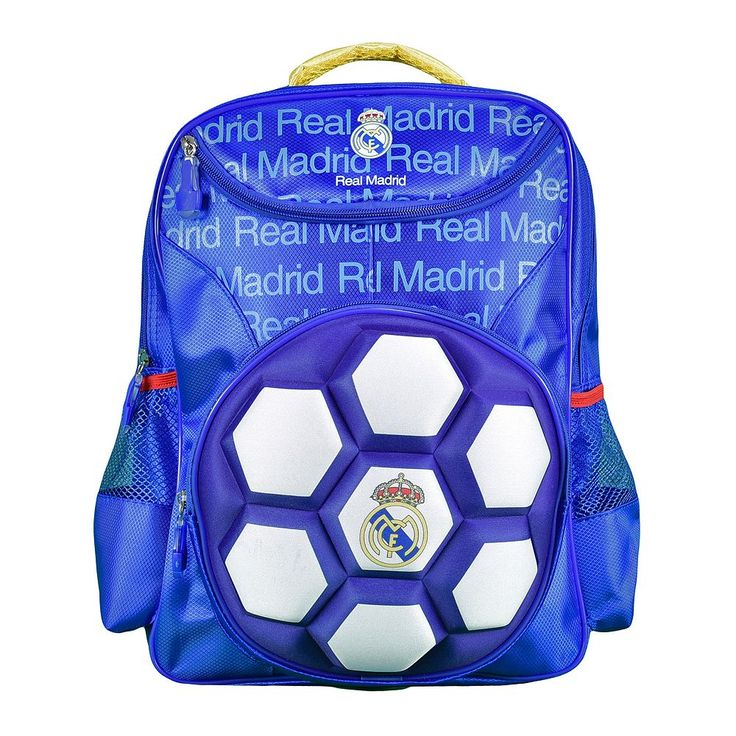 Real Madrid CF Raised Ball Backpack, Multicolor
