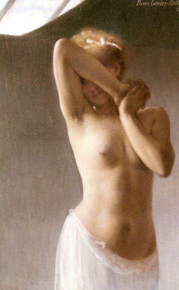 Pierre Carrier-Belleuse, 00004901-Z: The First, Art, Nude Art, Paintings, Premiere Pose, La Premiere