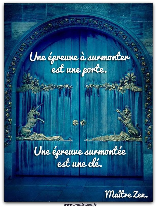 La porte et la clé.                                                                                                                                                                                 Plus